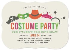 party invitations - Costume Party by Jill Means