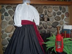 Ladies Prairie Pioneer Civil War Colonial Day by alottocollect, $59.95
