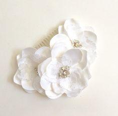 Bridal Hair Comb Flowers Hair comb Handmade Wedding by amuandpri