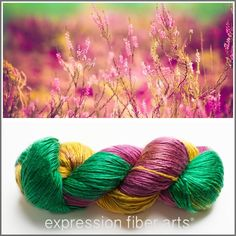 Creamy and dreamy worsted weight silk yarn - Scottish Heather - (http://www.expressionfiberarts.com/products/scottish-heather-pearlescent-silk-worsted.html)