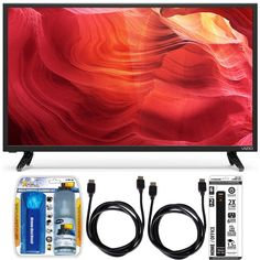 Vizio E48u-D0 - 48-Inch SmartCast Full-Array UHD Home Theater TV Accessory Bundle includes Television, Screen Cleaning Kit, 2 HDMI Cables and 6 Outlet Power Strip with Dual USB Ports for Sale