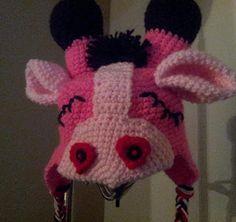 Hooking Rainbows: Sleepy Valentine Giraffe hat