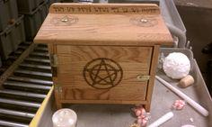 Handmade Wiccan Altar