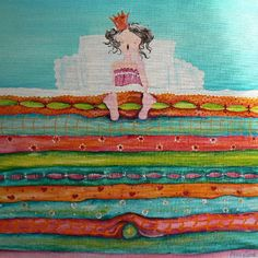 Princess and the Pea Hand Painted Canvas