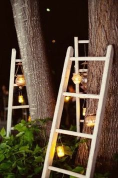 could use this in the garden and plant an ivy or something to climb up it.