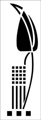 Motif No 51 stencil from The Stencil Library ART NOUVEAU range. Buy stencils online. Stencil code DE241.