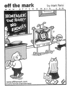 I'll have to show this when I give out my classroom rules on turning in homework. So funny!