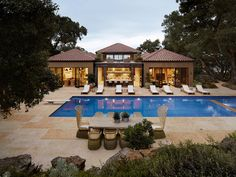 Mediterranean Pool by Ken Linsteadt Architects...forget the house, I could just live at the pool!!