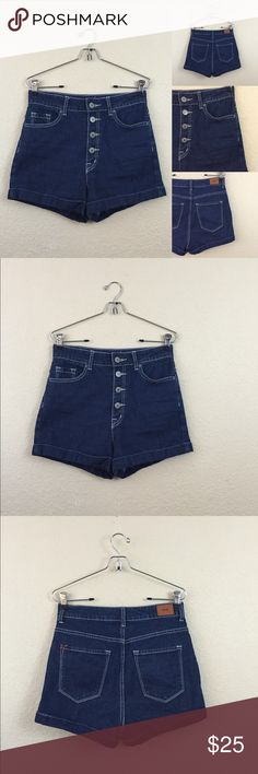 """Urban outfitters BDG highwaisted shorts • urban outfitters BDG  • Super high rise foxy  • Size 27 waist measures 14"""" • Worn once no damages Urban Outfitters Shorts Jean Shorts"""