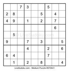 Hard Sudoku puzzle number This Sudoku is a bit more difficult than what people are used to solve. Use our tutorials to learn advanced Sudoku techniques to solve this one. Hard Puzzles, Sudoku Puzzles, Puzzles For Kids, Free Printable Puzzles, Wicked, Medium, Search Games, Ford Expedition, Lower Abs