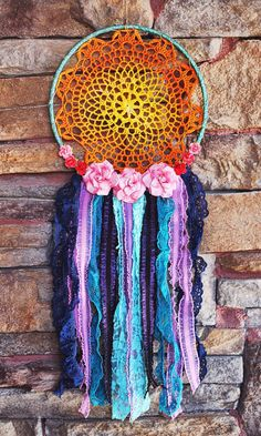Dreamcatcher /one of a kind/ Large 10 hoop by DesertMermaidStore