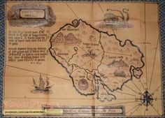 Replica of the treasure map used in the 1950 version of treasure island. Treasure Island Map, Treasure Maps, Essay On Education, Treasure Hunt Games, Leather Industry, Black Sails, National Treasure, Movie Props, Free Vector Art