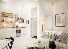 Piccoli spazi: vivere in 38 metri quadrati