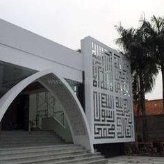 Ornamen kaligrafi masjid unik
