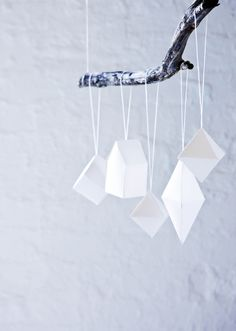 DIY Minimalist Paper Christmas Ornaments