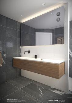 Minosa Design: Small modern bathroom to share