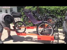 Two-Way Trike Carrier Design Hitch Rack, Trike Bicycle, Baby Strollers, Transportation, Bicycles, Children, Vehicles, Youtube, Design