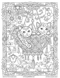 Hanging Basket Creative Kittens Coloring Book By Marjorie Sarnat