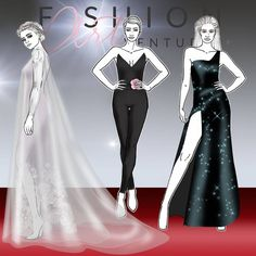 Just finished my collection of female fashion figure templates inspired by red carpet poses. The fashion croquis are in the most popular postures seen on live events. You can download the templates individually or in a promo set on my blog.