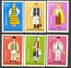 1979 Regional Folk Costumes,Maramures,Vrancea,Volkstrachten,Romania