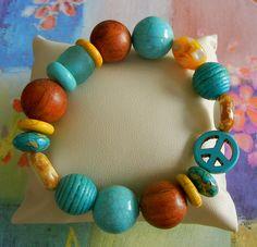 Sunny Day Bracelet: Beach House Decor, Coastal Decor, Nautical Decor, Coastal Living Boutique, Tropical Decor
