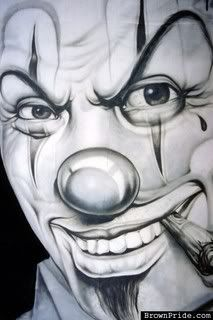 gangsta clown Pictures, Images and Photos
