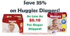 ***HOT HUGGIES DIAPERS DEAL*** Are you wanting some CHEAP Huggies diapers?  For as little as $0.10 per diaper with FREE SHIPPING! **AWESOME DEAL** Click the Picture Below to get all of the Details ► http://www.thecouponingcouple.com/cheap-huggies-diapers-with-free-shipping/  Use the SHARE button Below the Picture to SHARE this HOT DEAL with Family & Friends!   #Coupons #Couponing #CouponCommunity  Visit us at http://www.thecouponingcouple.com for more great posts!