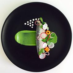 Pickle mackerel & pea purée with fresh thyme and radishes  WEBSITE COMING SOON  Interested in the recipes?  Sign up for my newsletter by email  newsletter@myfrenchchef.com