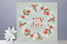 Weathered Wreath Holiday Cards designed by Laura Hankins