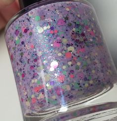 Summers First Bloom -  Lavender Jelly Glitter Bomb Custom Handmade Indie Nail Polish via Etsy