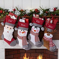 Need a unique gift? Send Furry Friends Plush Stocking and other personalized gifts at Personal Creations. Blue Christmas Decor, Diy Christmas Garland, Christmas Signs Wood, Christmas Door Decorations, Christmas Mantels, Christmas Stockings, Christmas Crafts, Holiday Decor, Christmas Quotes