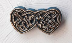 Celtic Love Stone Art Celtic Knot Sculpture Home Decor Garden Art. $8.00, via Etsy.