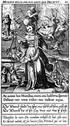 5. Detail from 'The Insanity of the World,' an engraved emblem by Theodoor Galle in Jan David's 'Veridicus Christianus.