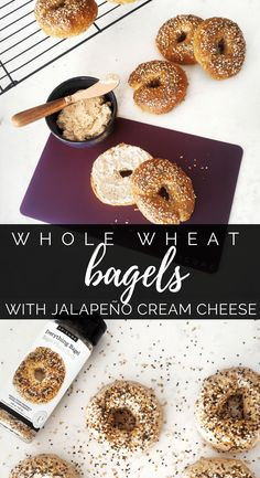 Healthy Whole Wheat Bagels with Jalapeño Cream Cheese. Topped with Epicure's Everything Bagels Whole Food Sprinkle. The cream cheese is made with Cheese & Jalapeño Dip Mix! No frying and high in fibre and protein Epicure Steamer, Cheap Meals, Cheap Recipes, Free Recipes, Whole Wheat Bagel, Epicure Recipes, Cream Cheese Stuffed Jalapenos, Jalapeno Recipes, Shrimp Recipes