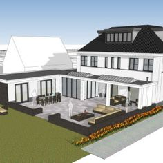 Prefab Homes, Ramen, Villa, Mansions, House Styles, Modern Houses, Dream Houses, Sims 4, Minecraft