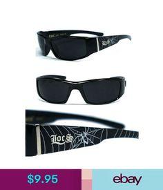 591cbf860e Men s Sunglasses Locs Mens Cholo Biker 100% Uv400 Sunglasses - Shiny Black  Spider Lc57