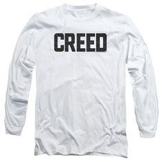 Creed Cracked Logo White Long-Sleeve T-Shirt