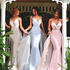 Maid of Honor Dresses 2017 | Dresses 2017 V Neck with Straps Satin Long Maid of Honor Gowns ...