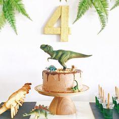 dinosaur party, ferns, four, dino, birthday Birthday Party At Park, Boy Birthday Parties, Happy Birthday, Birthday Ideas, Dinasour Birthday, Dinosaur Birthday Cakes, Dinosaur Party Games, Dino Cake, Party Invitations Kids