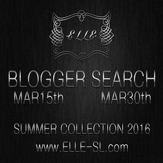 Bloggers Wanted -E L L E- has opened the applications for Blogger sponsorship for the Spring-Summer 2016 collection. You can find major info at the..