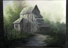 Watch Kevin create this old barn, filled with sunlight. For more info about his brush line or DVDs visit his website. www.paintwithkevin.com