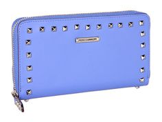 Rebecca Minkoff Luma Large Zip Wallet With Studs Periwinkle - 6pm.com