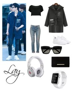 """Lay inspired outfit!!! Requested by @daydreaminginthedark thankyou for requesting hope you like it!! ❤️"" by bts4ever02 ❤ liked on Polyvore featuring WithChic, Yves Saint Laurent, NIKE, Beats by Dr. Dre and Dune"