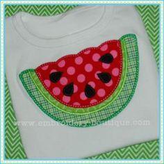 Scalloped Watermelon Applique
