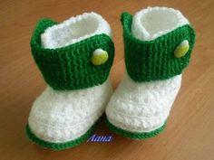 botitas para bebe,en lana