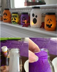 halloween crafts for kids - 22 Wicked DIY Halloween Decorations And Scare Tactics - Theme Halloween, Halloween Tags, Halloween Projects, Holidays Halloween, Happy Halloween, Craft Projects, Cute Halloween Decorations, Halloween Lanterns, Halloween Crafts For Kids To Make
