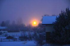 frigid sunrise -27. casper, wy