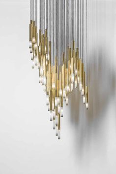 Symphony by @jikriica Sans Souci - a way of altering a well-known component, a crystal tube. The tubes are treated with nano metal coating and combined with a cut. As the coating was gradually cut off, a subtle gradient emerged, which is an impressive decorative feature from up close.