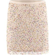 sequin skirt, multicolor