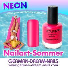 Neon Farben sind absolut beliebt und angesagt. Was ist Euer Must Have für den heißen Sommer? #Nailart #Naildesign #Jolifin